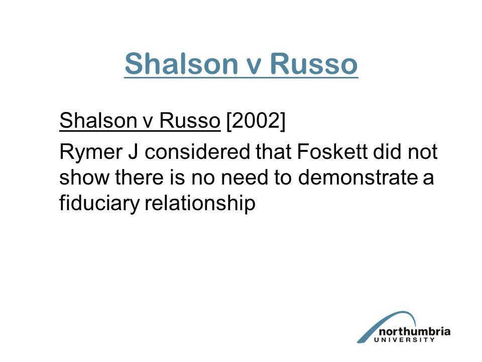 Shalson v Russo Shalson v Russo [2002]